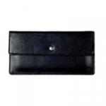 Кожаный кошелек Flat (black)