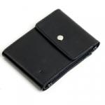 Кожаный зажим для денег Duo (black)